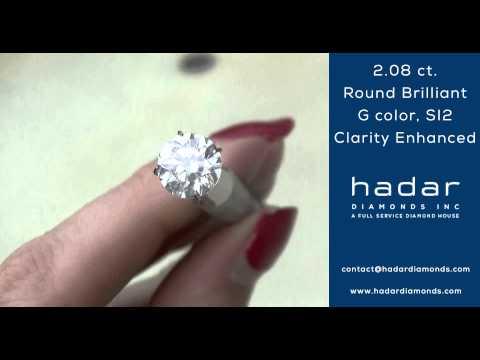 Clarity Enhanced Diamond | 2 carat | 2.08 ct., G color, SI2