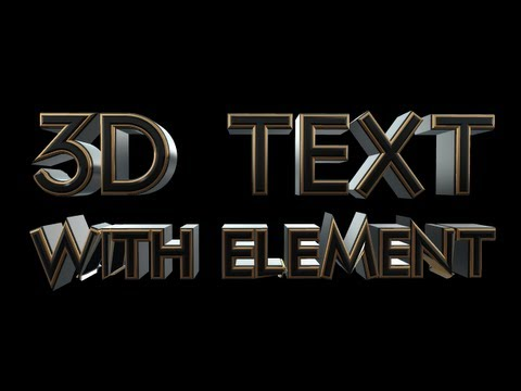 After Effects Tutorial: 3D Text with Element