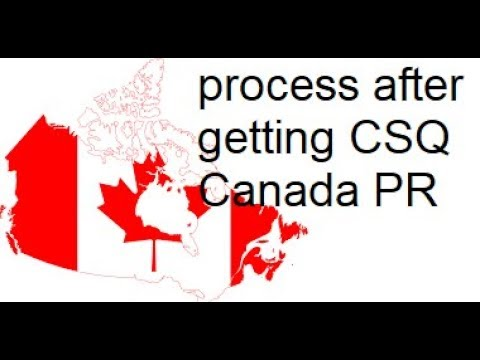 what to do after getting quebec selection certificate