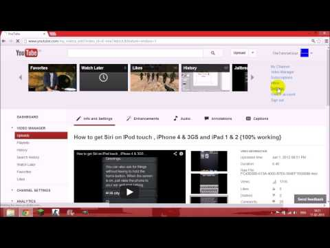How to choose a Custom Thumbnail for Youtube Video 2013