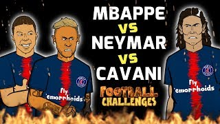 🔥MBAPPE vs NEYMAR vs CAVANI: Football Challenges!🔥