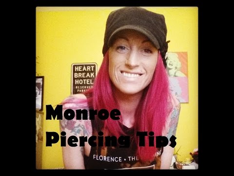 Monroe Piercing before & after & tips with AbiDashery :)