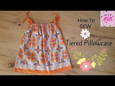 Sew tiered Pillowcase Dress