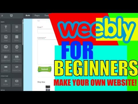 Weebly For beginners tutorial 2018 1 in 4 part video How to make your own website