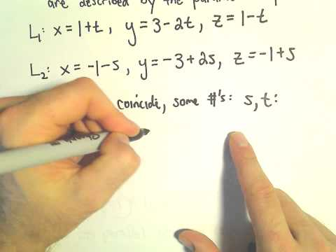 Deciding if Lines Coincide, Are Skew, Are Parallel or Intersect in 3D