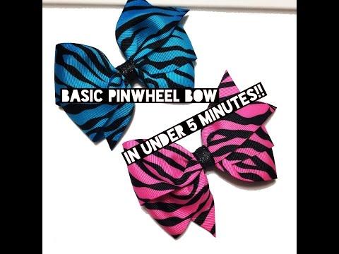 Basic Pinwheel Bow in Under 5 Minutes!!