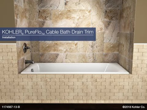 Installation - PureFlo Cable Bath Drain Trim