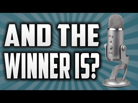 Giveaway Winner Announcement!!! | Blue Yeti Microphone