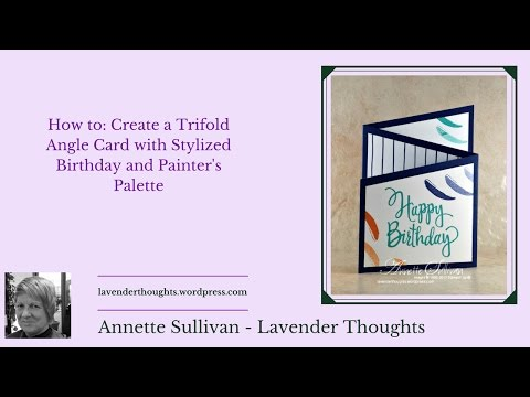 Trifold Angle Card with Stylized Birthday and Painters Palette