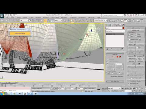 3ds max tutorial Sydney Opera House Modeling 4