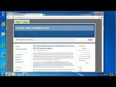 Install Visual Studio 2010 Express for editing report in NAV 2013