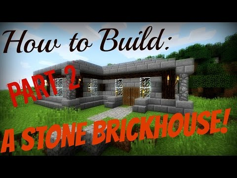Minecraft How to Build Pt: 2 | A Small Stone Brick/Spruce Wood House!
