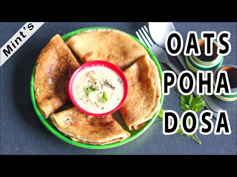 Instant Poha Oats Dosa | Healthy Breakfast Recipe
