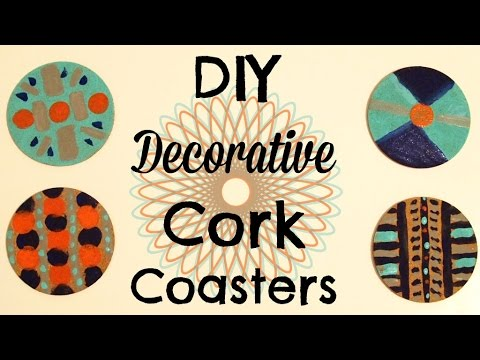DIY Decorative Cork Coasters