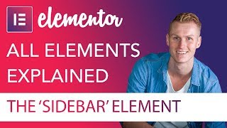 Sidebar Element Tutorial | Elementor