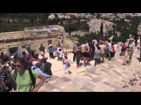 Reaching the Top of the Acropolis - THE ROYAL WEDDING