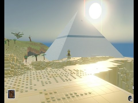 Lego Worlds - Great Pyramid Penthouse - 01 Marking the site - brick by brick