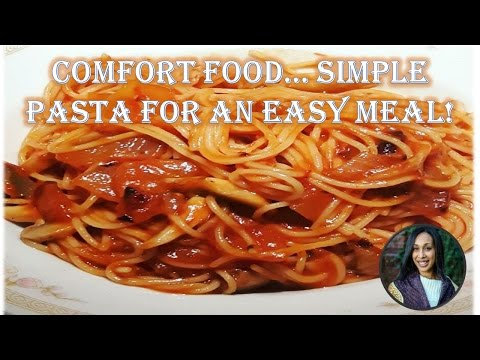 Red Sauce Pasta Recipe - Easy & Quick Angel Hair Pasta in Red Sauce