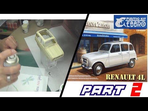 EP : 2►RENAULT 4L / EBBRO ◄ Maquette voiture 1:24
