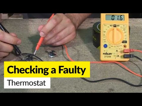 How to check a faulty thermostat using a multimeter