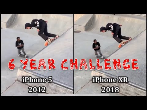 iPhone XR (2018) vs iPhone 5 (2012) : 6 Year Challenge (Camera Photos & Video)
