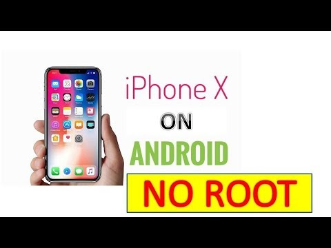 How to make your Android look like an iPhone X - No Root