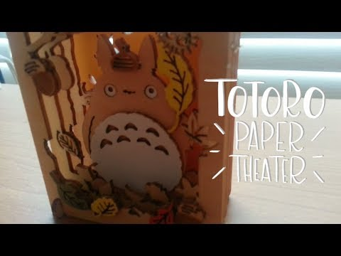 Totoro DIY Paper Theater - WOOD STYLE -