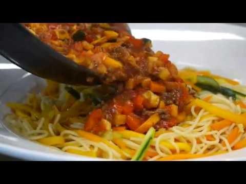 Dolmio Bolognese served with confetti spaghetti