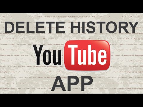 How to delete history on Youtube mobile app