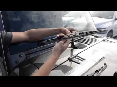How to install wipers on a Jeep Wrangler