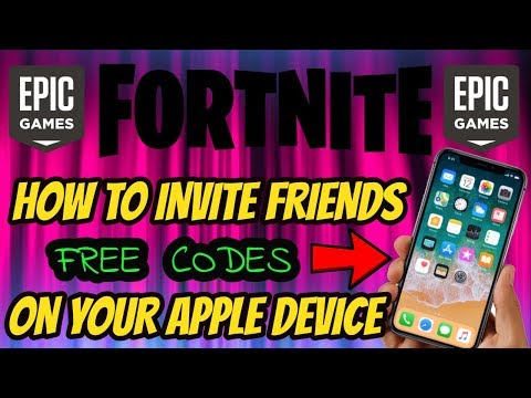 FORTNITE How to invite friends on your phone