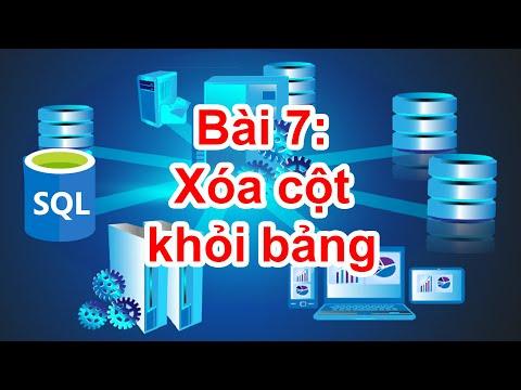 SQL-09: Xóa các cột khỏi bảng bằng lệnh ALTER TABLE DROP
