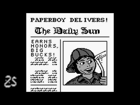 Gameboy - Paperboy (playthrough)