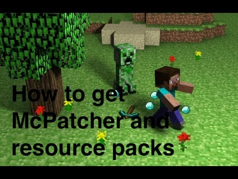 How to get McPatcher and resource packs (texture pack) Minecraft 1.7.2 (mac) links below