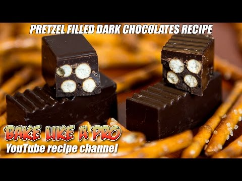 Easy Dark Chocolate Pretzel Filled Chocolates Recipe