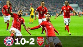 Bayern Munich vs Arsenal 10-2 - Goals & Highlights w\ English Commentary 1080p HD