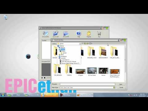 How To Burn DVDs - Movies + Video Files - PC TUTORIAL