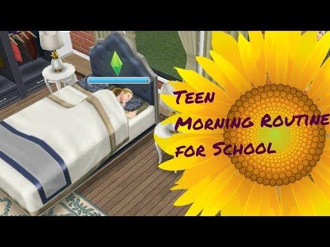 Simsfreeplay - School Morning Routine