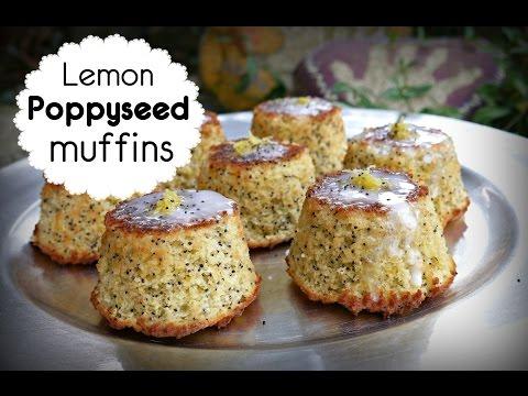 Lemon Poppyseed muffins  HEALTHY VERSION