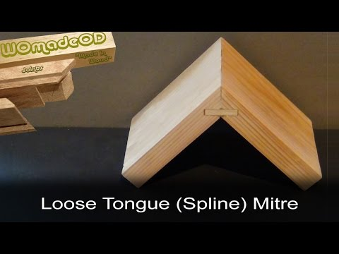 Loose Tongue Mitre (Splined Mitre) - How to cut by hand