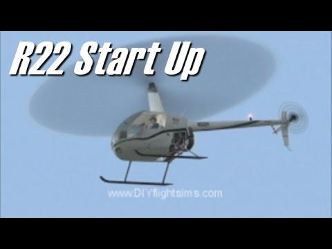Helicopter Flight Sim: R22 Start Up