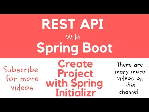 REST API with Spring Boot - Create Spring Boot project with SPRING INITIALIZR