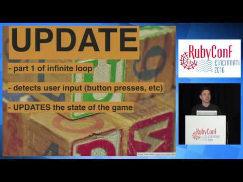 RubyConf 2016 - Attention Rubyists: you can write video games by Cory Chamblin