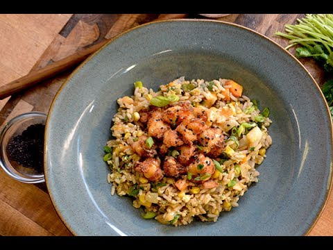 Crispy Shrimp Fried Rice with Yum Yum Sauce