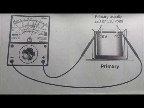 how to test transformer using multitester (analog)