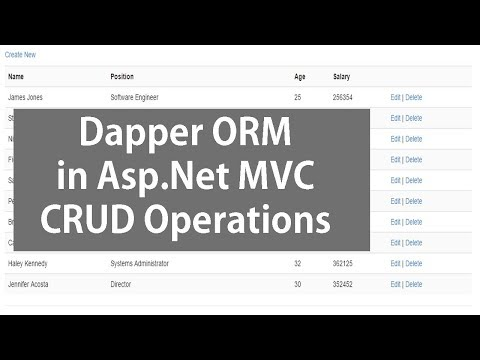 Asp.Net MVC and Dapper ORM - CRUD Operation Using SQL Server Database