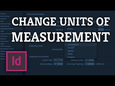 InDesign: Changing Units & Increments for One or All Of Your Documents