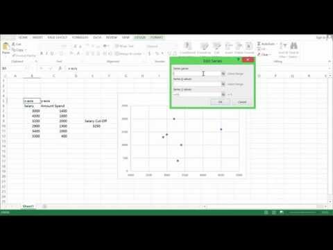 LIFE EXCEL HACK - Adding Vertical Lines to Graph (excel 2013) #1