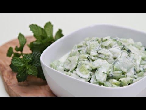 Cucumber Salad with Greek Yogurt and Fresh Mint