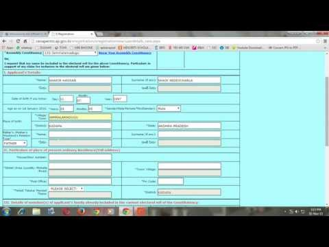 HOW TO APPLY  NEW VOTER ID CARD ONLINE ANDHRAPRADESH